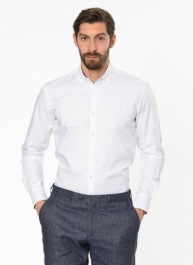 Daffari Uzun Kollu Klasik Gömlek Beyaz